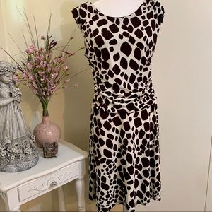 EnFocus Petite Animal Print Midi Dress 14P